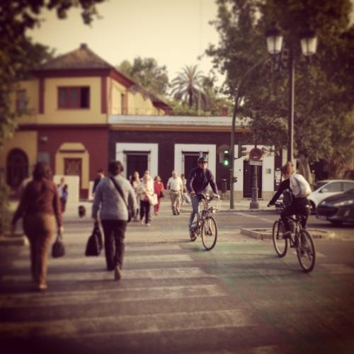 Travessia em Sevilha.